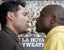 Foto: De La Hoya & Myweather Jr