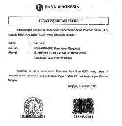 \Awas! Beredar Surat Palsu Perintah Setor BI\
