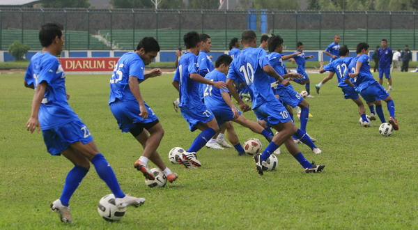 Skuad Persib Bandung berlatih.(foto:SINDO)