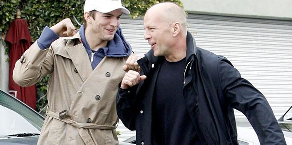 Ashton Kutcher & Bruce Willis (Foto:Blogspot)