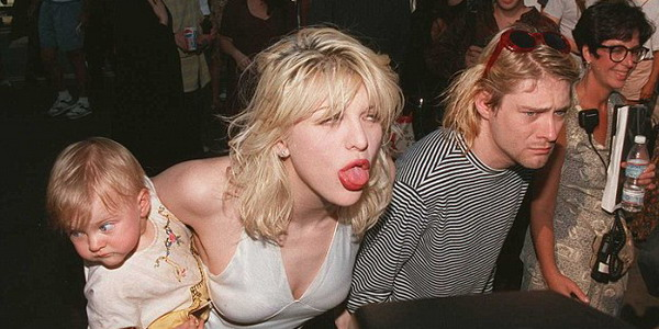 Courtney Love & Cobain (gettyimages)