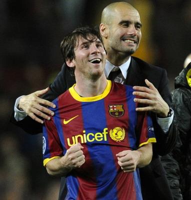 Foto: Messi & Guardiola saat merayakan kemenangan/Getty Images