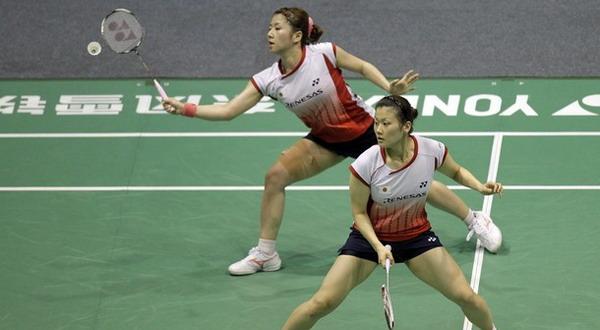 Ganda putri Jepang yang mampu mengalahkan Greysia Polii dan Meiliana Jauhari pada perempatfinal Thomas dan Uber Cup 2012. (Foto:Daylife)