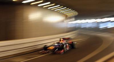 Mark Webber berhasil meraih pole position di GP Monaco/Getty Images