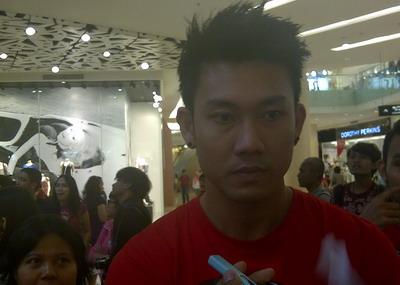 Denny Sumargo, bermain bulutangkis lebih melelahkan/M. Indra Nugraha (Okezone)