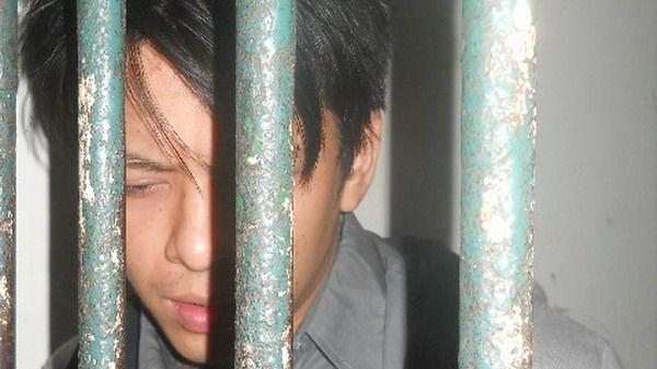 Ariel di penjara (foto: Elang Riki Yanuar/Okezone)
