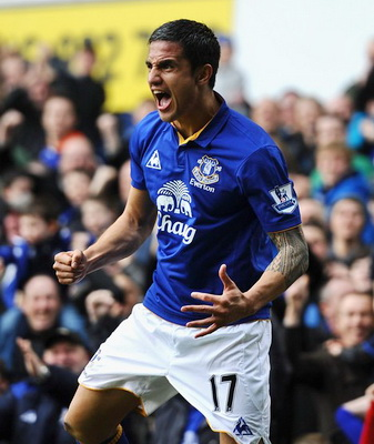 Tim Cahill Dilepas Everton ke New York Red Bulls (Foto: Getty Images)