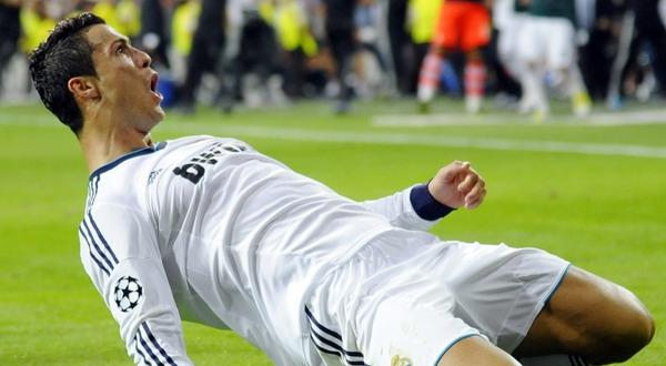 Ronaldo kembali melakukan selebrasi usai mencetak gol saat menghadapi City kemarin. (Foto: Reuters)