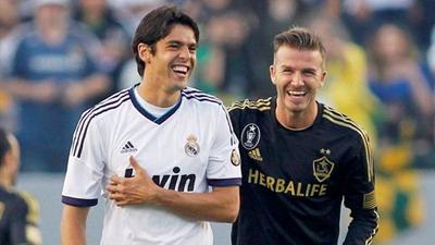 Kaka dan David Beckham (foto: Ist)
