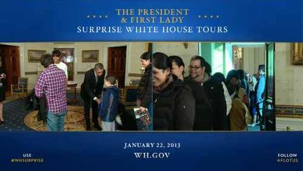 Obama & Anjing Kesayangannya Beri Kejutan untuk Turis Gedung Putih