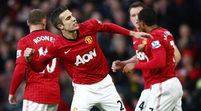 Selebrasi gol Robin van Persie (Foto: Reuters)
