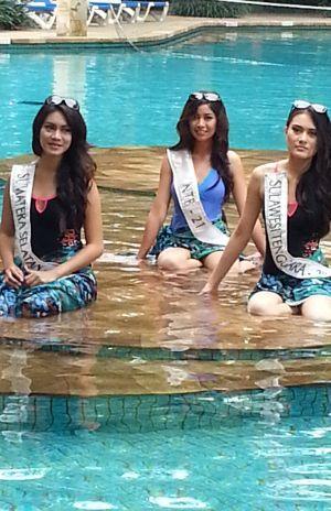 Finalis Miss Indonesia 2013 Antusias Jalani Pemotretan