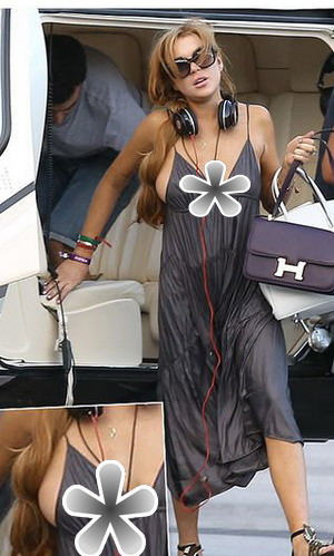 Baju Transparan, Puting Payudara Lindsay Lohan Nongol