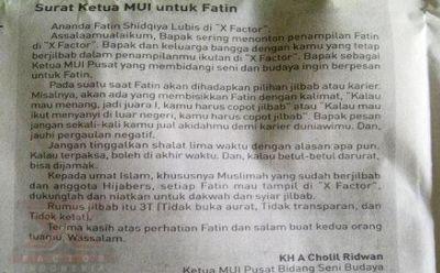 Ketua MUI dukung Fatin (Foto: Capture Kompas)