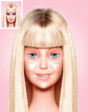 Tanpa Make Up, Wajah Barbie seperti Ini?