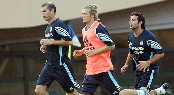 Zinedine Zidane (Kiri) dan Luis Figo (kanan) siap membela El Real di laga amal (Foto: Daily Mail)