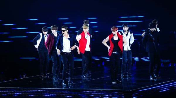 Yesung & bandnya Super Junior (Foto: Showmax Entertainment)
