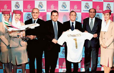 Kerja sama Real Madrid & Fly Emirates (Foto: Emirates247)