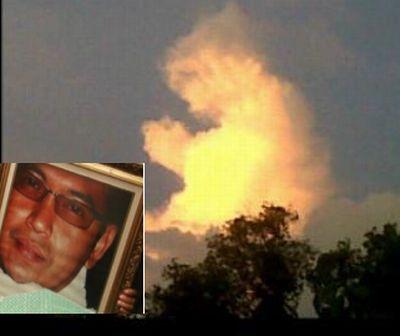Awan muncul saat Uje dimakamkan (foto: Ist)