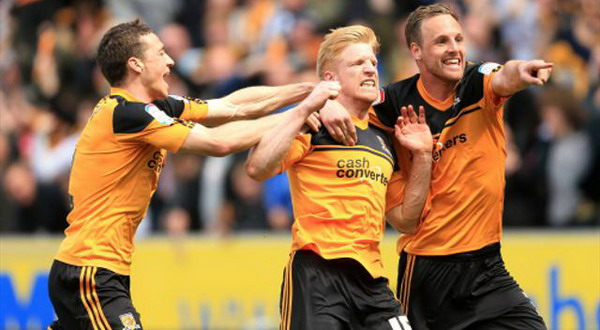Para pemain Hull City merayakan promosi (Foto: PA)