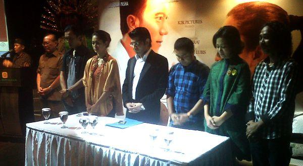 Para pendukung film Jokowi (Foto: Edi Hardian)