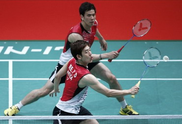 Ko Sung Hyun/Lee Yong Dae (Foto: Reuters)