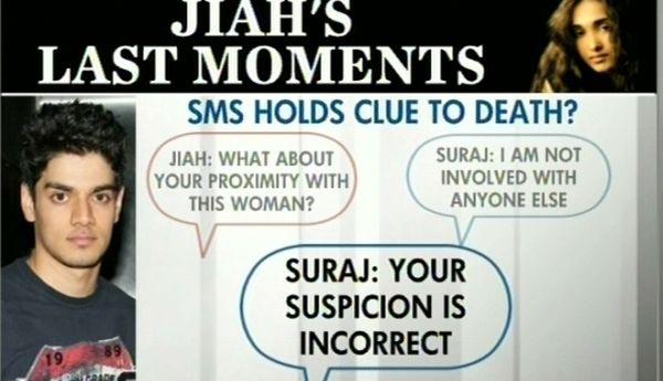 Percakapan terakhir Jiah Khan & Suraj Pancholi (Foto: Indiatoday)