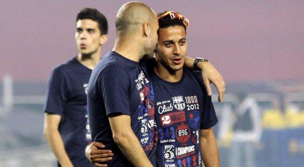 Josep 'Pep' Guardiola i Sala (kiri) menginginkan Thiago Alcantara do Nascimento (Foto: ist)