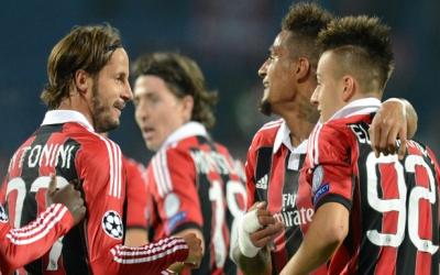 Selebrasi para pemain AC Milan (foto: Ist)