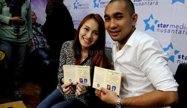 Ayu Ting Ting & Enji (Foto: Dok Okezone)