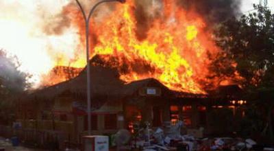 Kebakaran di Darul Quran (Foto: Twitter)