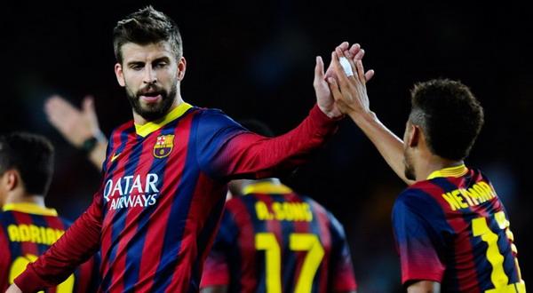 Jordi Alba, Gerard Pique, dan Neymar Jr siap kembali merumput di laga melawan Atletico Madrid / andina.com