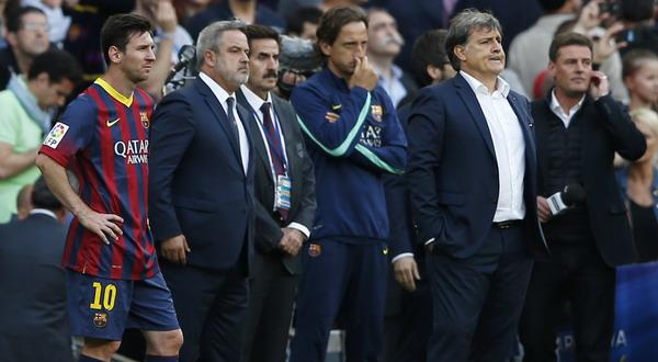 Maksud hati ingin memberikan gelar juara untuk Gerardo Martino, Lionel Messi dkk justru gagal meraih kemenangan kontra Atletico Madrid (Foto: REUTERS)