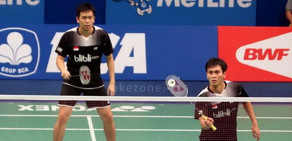 Hendra Setiawan/Muhammad Ahsan (Foto: Heru/Okezone)