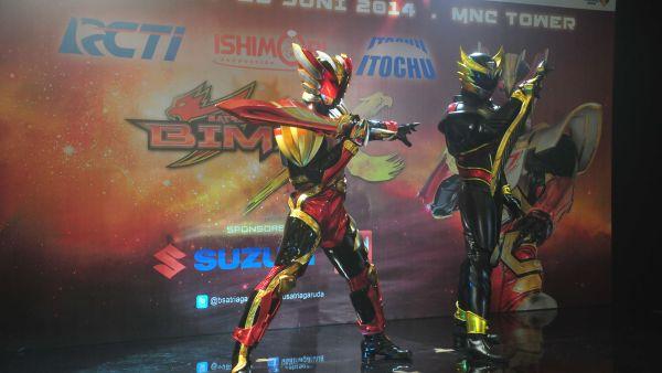Satria Garuda Bima-X beraksi lagi (Foto: Aries Margono/Genie)