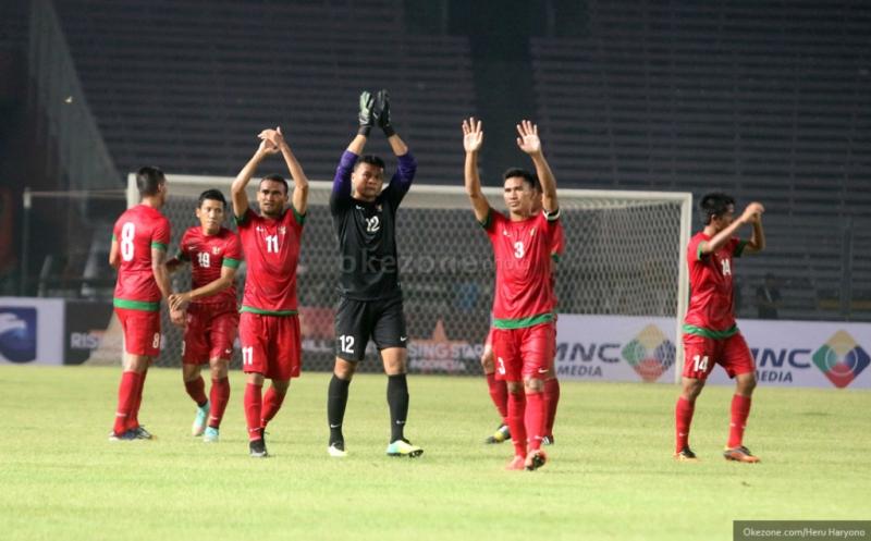 Indonesia menang besar 5-1 atas Laos (Foto: Heru Haryono/OKEZONE)