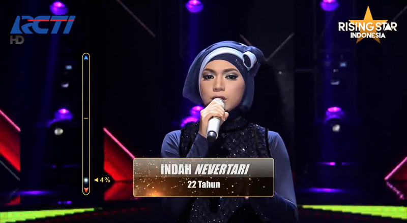 indah nevertari jadi juara rising star indonesia foto youtube