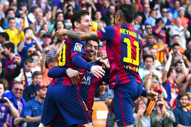 Trisula Barca jaminan membobol gawang Juventus (Foto: Reuters)