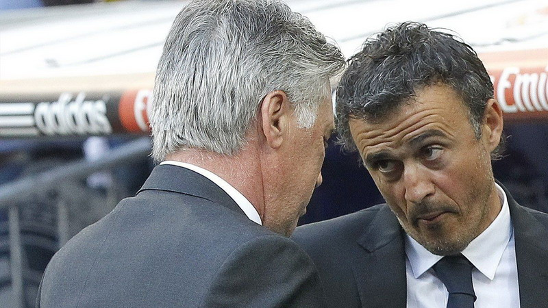 Enrique tak ambil pusing terkait rencana Barca mendatangkan Ancelotti. (Foto: Eurosport)