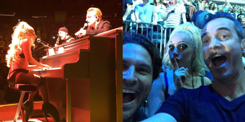 Gaga berduet dengan Bono membawakan lagu
