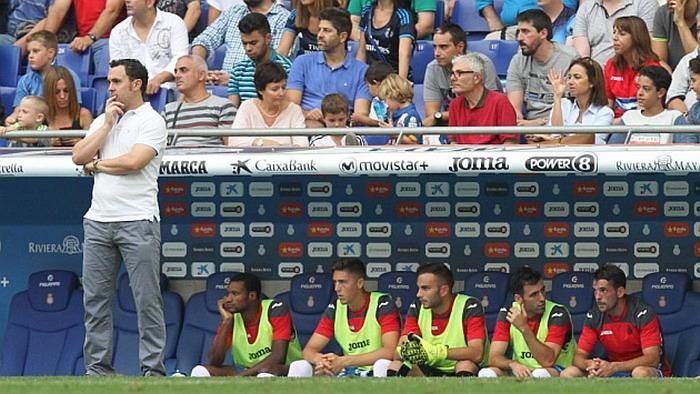 Sergio Gonzalez di dugout Espanyol (foto: REUTERS)