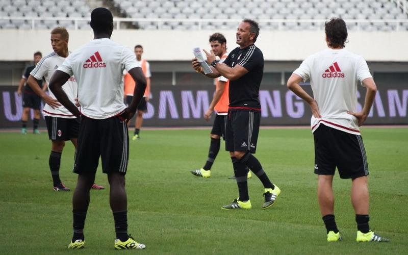 Suasana latihan AC Milan