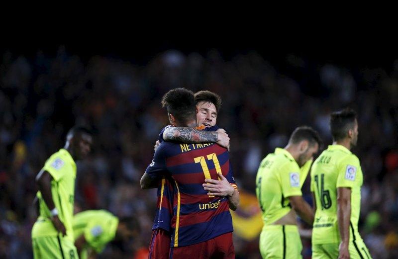 Neymar Junior dan Lionel Messi.