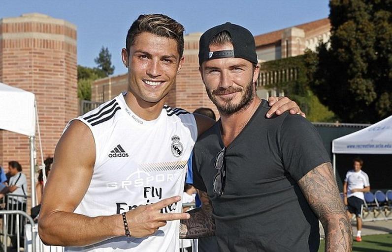 Cristiano Ronaldo dan David Beckham.