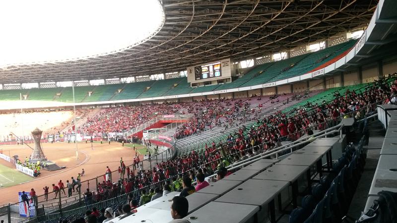 Stadion GBK masih menjadi kandidat kuat Final Piala Presiden 2015. (Foto: Okezone/Putri Utami)