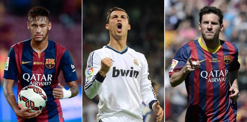 Neymar, Ronaldo, Messi.