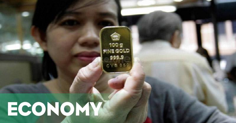 \Harga Emas Antam Turun Rp1.000 ke Rp550.000\