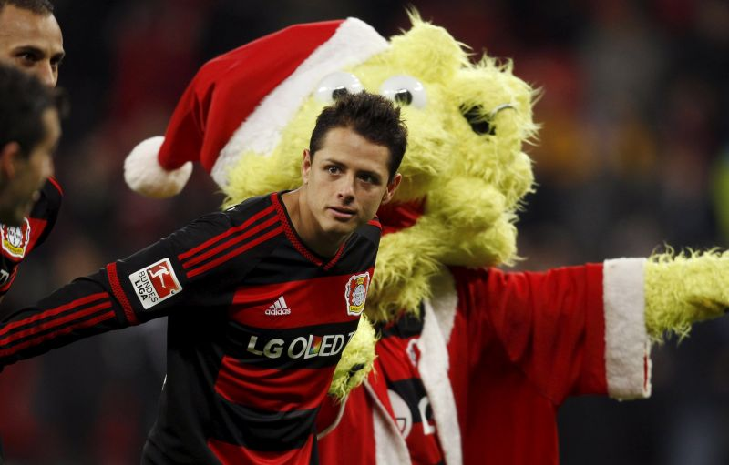 Chicharito masuk radar Arsenal. (Foto: REUTERS/Ina Fassbender)