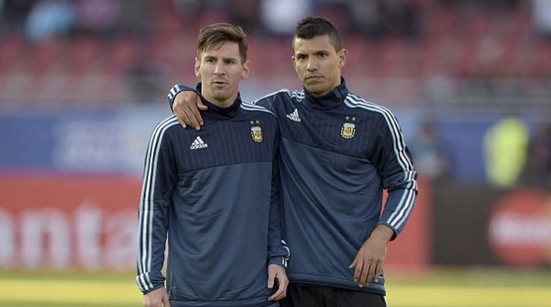 Lionel Messi dan Sergio Aguero/Foto: AFP