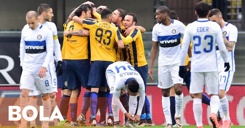 Drama Enam Gol, Inter Ditahan Tim Juru Kunci